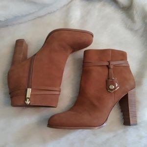 Louise et Cie Cognac Leather Ankle Boots 8-1/2 M